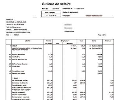 image bulletin de salaire